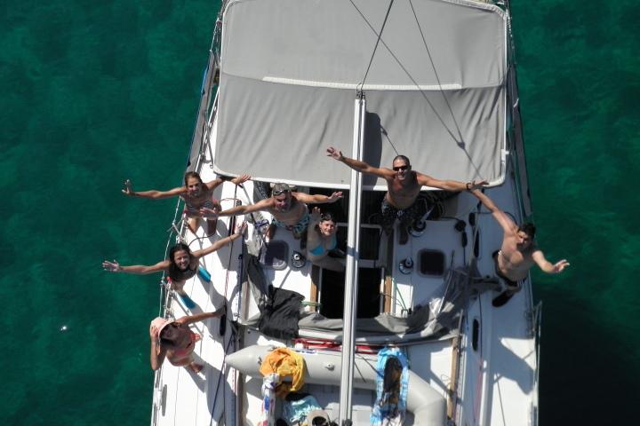 екипаж - яхта - кокпит - забавление