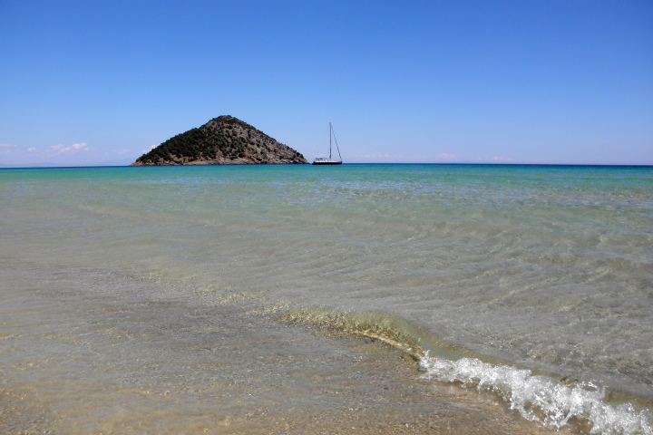 Северно Егейско море - Тасос - остров - бряг - яхта