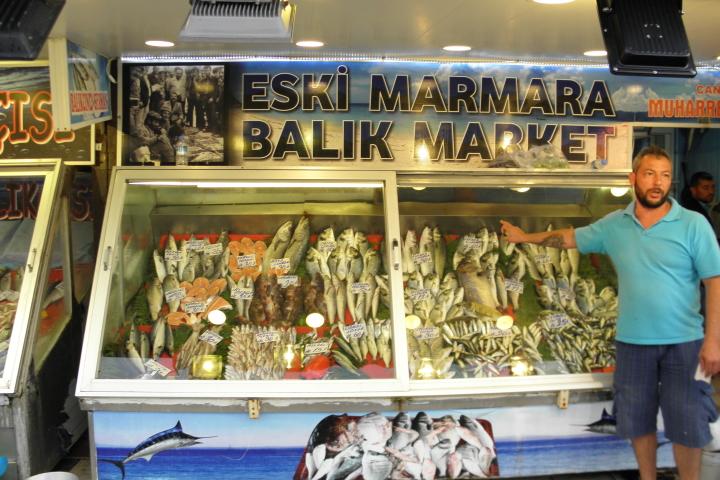 Рибен магазин в Турция